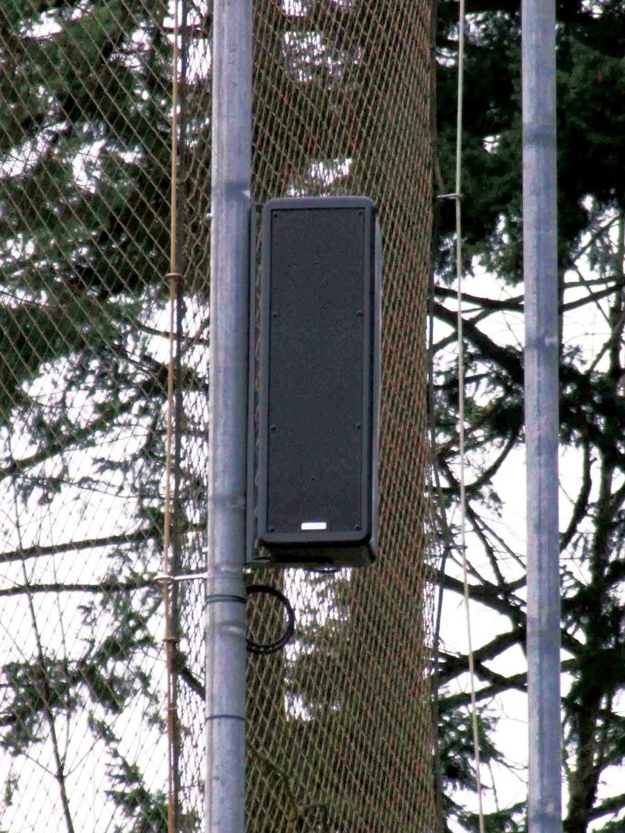 Saints Baseball - Paris 616 Loudspeaker on fence
