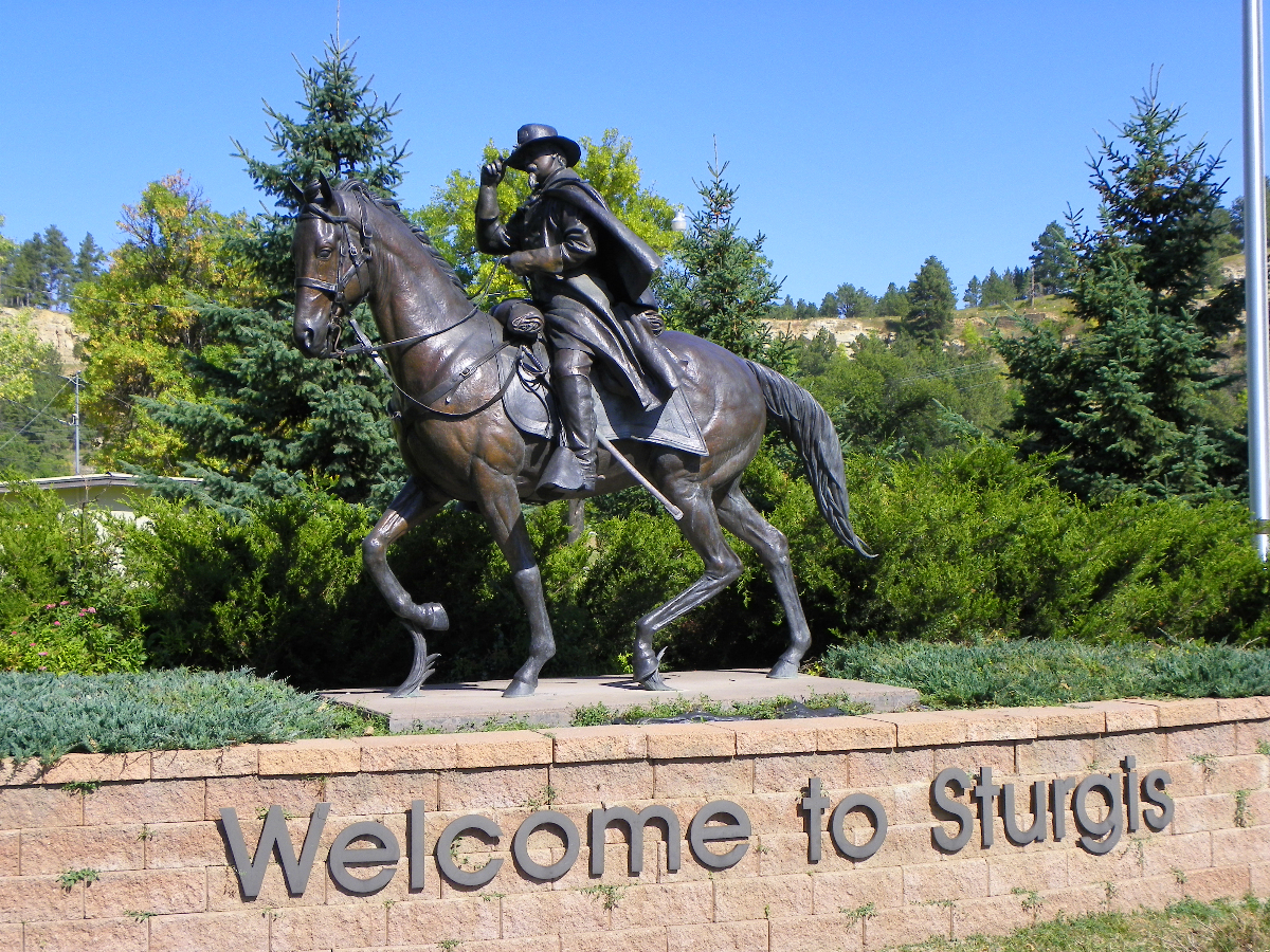Welcome to Sturgis! Photo credit to J Stephen Conn.