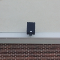 Noho loudspeaker at center of press box