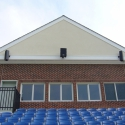 Three Technomad loudspeakers cover the new soccer stadium at College of New Jersey