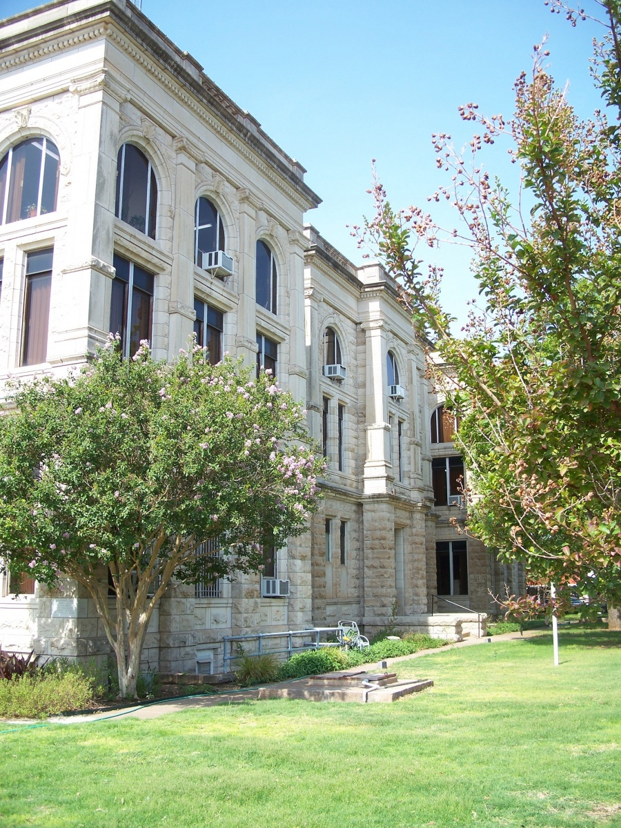 The beautiful Haskell County Courthouse