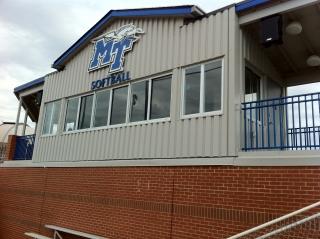 MTSU Blue Raiders Softball Field Press Box