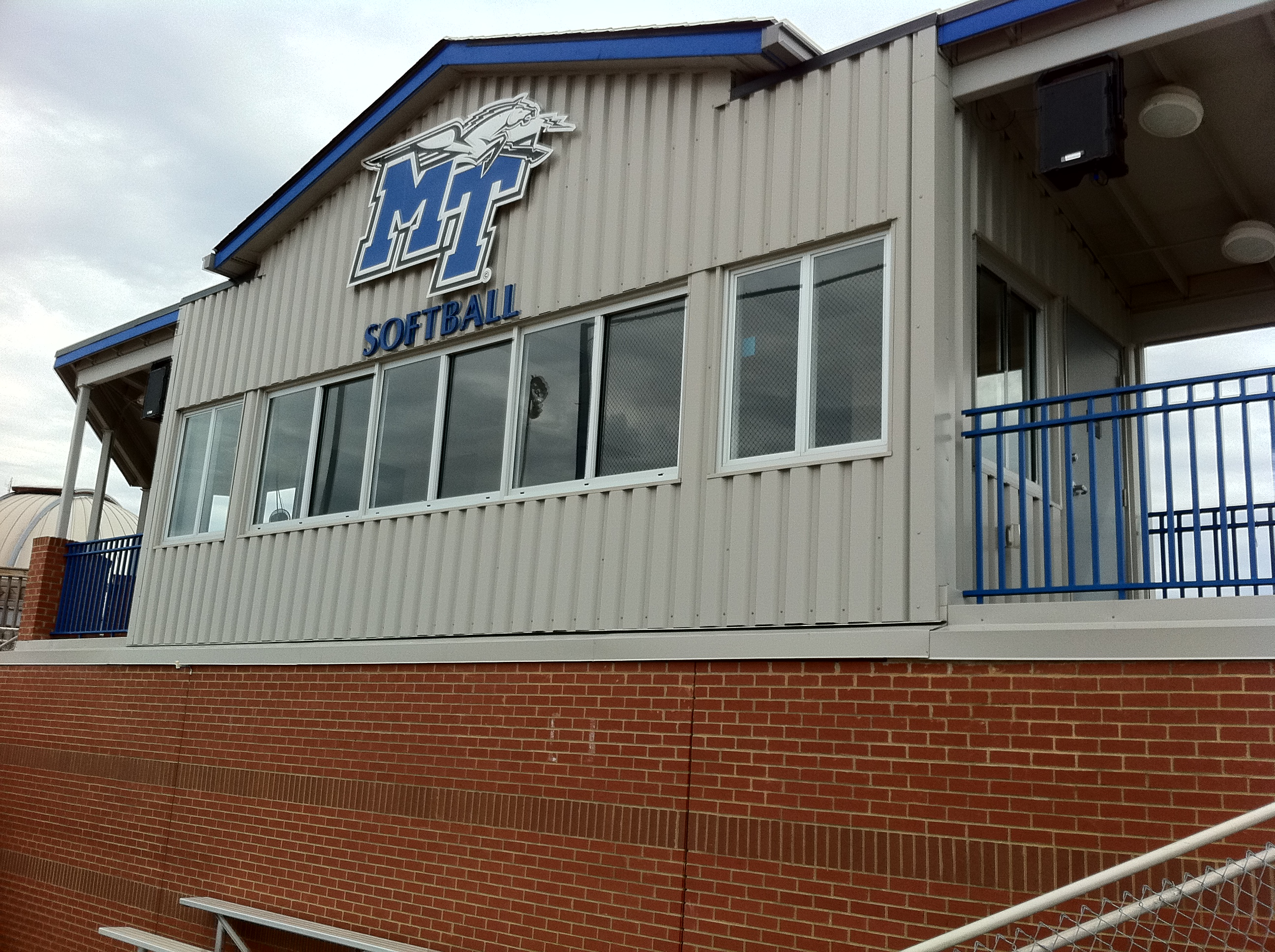 MTSU Blue Raiders Softball Field Press Box