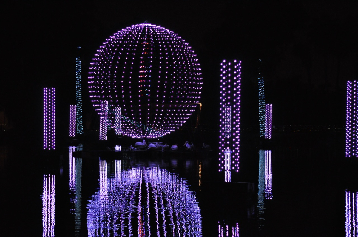Clearwing Productions designed the lighting and audio show for ZooLights
