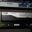 Close-up of Schedulon rack installation