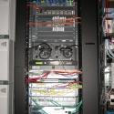 Wide view of Schedulon rack installation