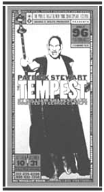 Promotional flyer for Shakespeare outdoor