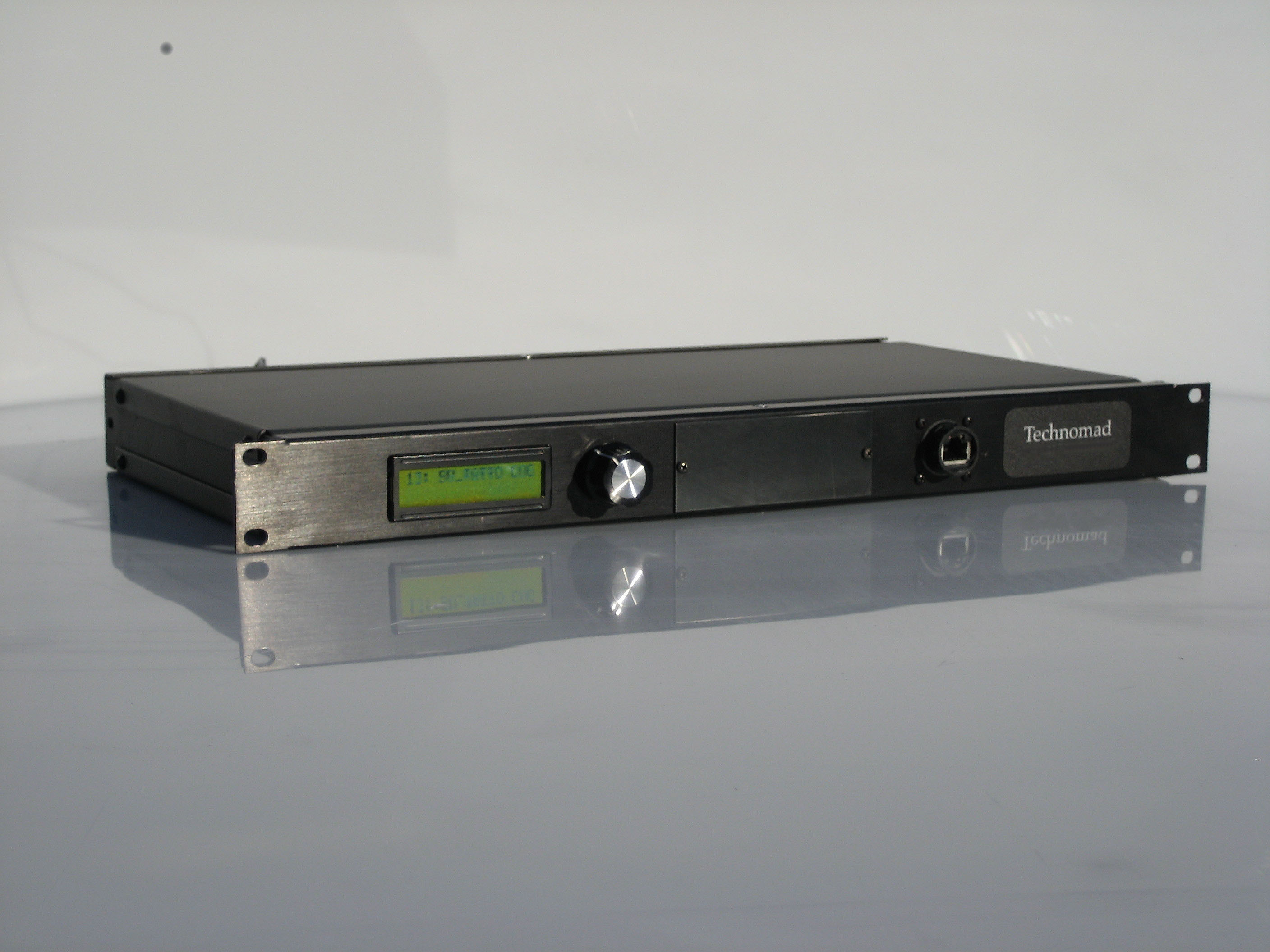 The Technomad Schedulon a rackmount (1U) MP3 player/recorder with a built-in scheduler that can be used in a variety of pro audio and commerical security applications.