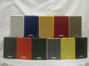 Technomad weatherproof loudspeakers are available in 14 custom colors that do not fade in sunlight