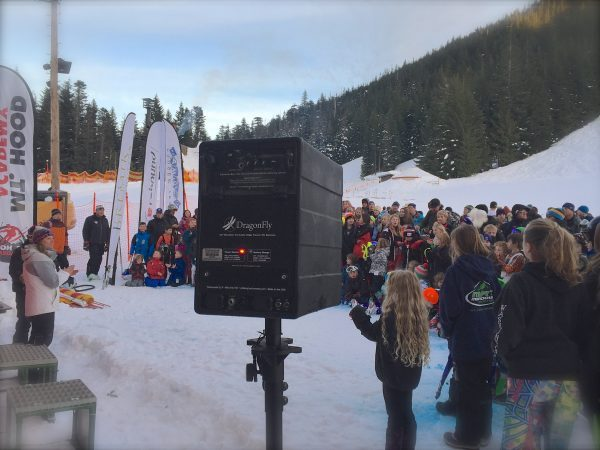 DragonFly Product being used in at snowboarding event