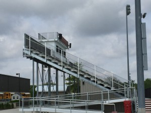 berlin stadium loudspeaker outdoor installation