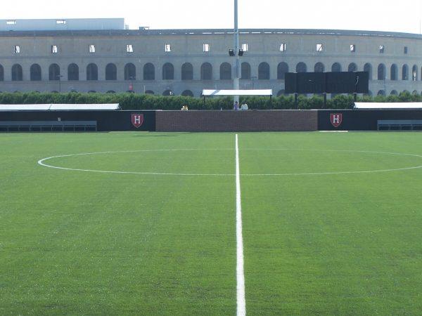 Harvard Coccer Noho loudspeakers at mid-field