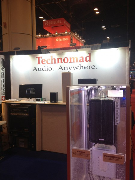 Technomad exhibited this past June at the Infocomm Convention in Anaheim, CA.