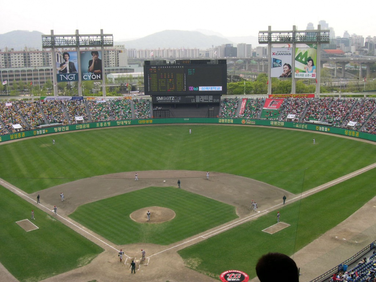 Overhead View of Jamsil Stadium