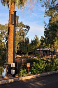 Phoenix Zoo Powerchiton pole installation
