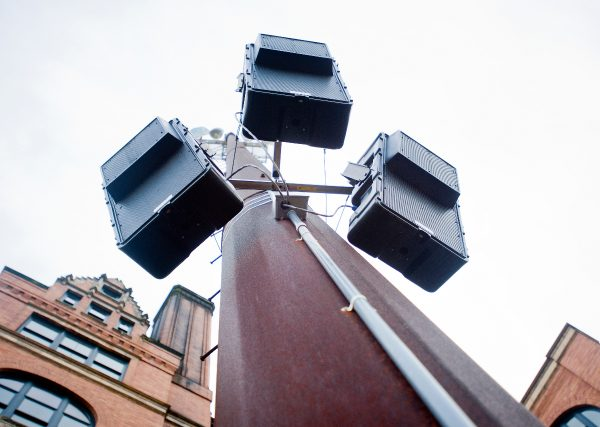 Weatherproof designs protect Technomad loudspeakers from the elements